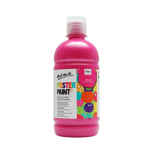 Mont Marte Poster Paint 500ml (16.91oz) - Magenta
