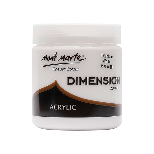 Mont Marte Dimension Acrylic 250ml - Titanium White