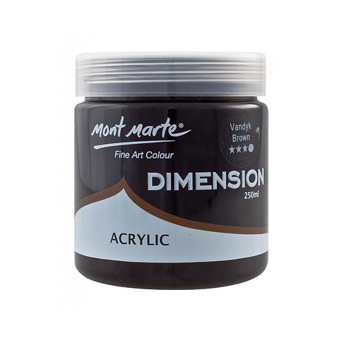 Mont Marte Dimension Acrylic 250ml - Van Dyke Brown