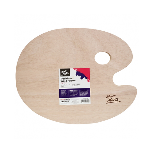 Mont Marte Signature Traditional Wood Palette 30 x 38cm (11.8 x 14.9in)