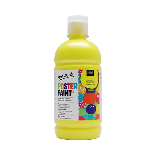 Mont Marte Poster Paint 500ml (16.91oz) - Lemon Yellow