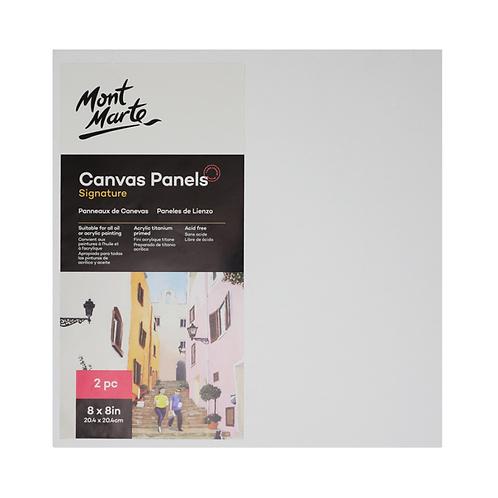 Mont Marte Signature Canvas Panels 2pc 20.4 x 20.4cm (8 x 8in)