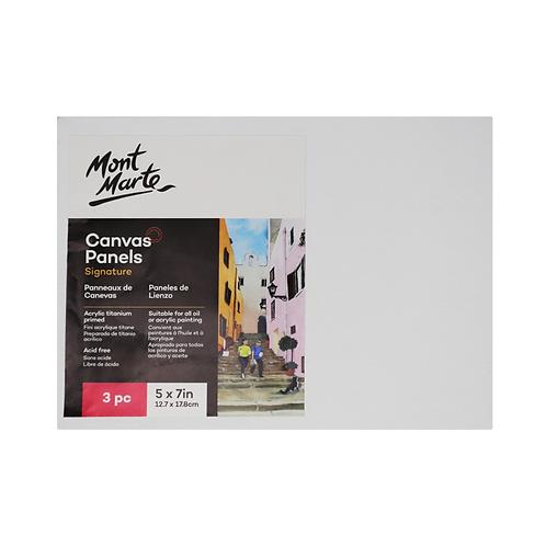 Mont Marte Signature Canvas Panels 3pc 12.7 x 17.8cm (5 x 7in)