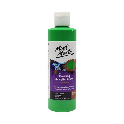 Mont Marte Premium Pouring Acrylic Paint 240ml (8.12oz) - Dark Green