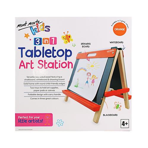 Mont Marte Kids Tabletop Art Station - Orange