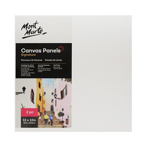 Mont Marte Signature Canvas Panels 2pc 30.5 x 30.5cm (12 x 12in)