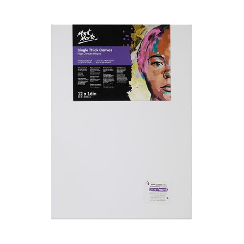 Mont Marte Premium Single Thick Canvas 30.5 x 40.6cm (12 x 16in)