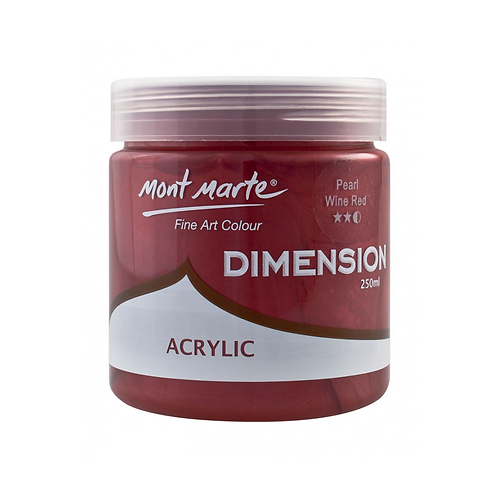 Mont Marte Dimension Acrylic 250ml - Pearl Wine Red