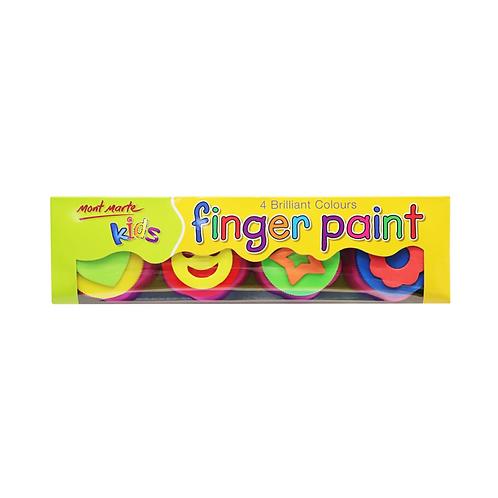 Mont Marte Kids Colour Finger Paints 4pce with stamp