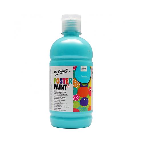 Mont Marte Poster Paint 500ml (16.91oz) - Turquoise