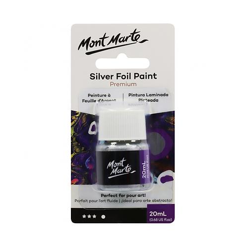 Mont Marte Premium Silver Foil Paint 20ml