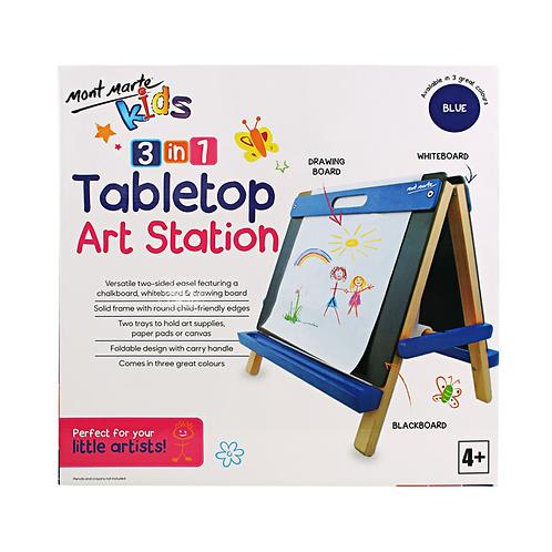 Mont Marte Kids Tabletop Art Station - Blue