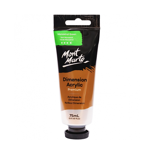 Mont Marte Premium Dimension Acrylic 75ml (2.5oz) - Monastral Green