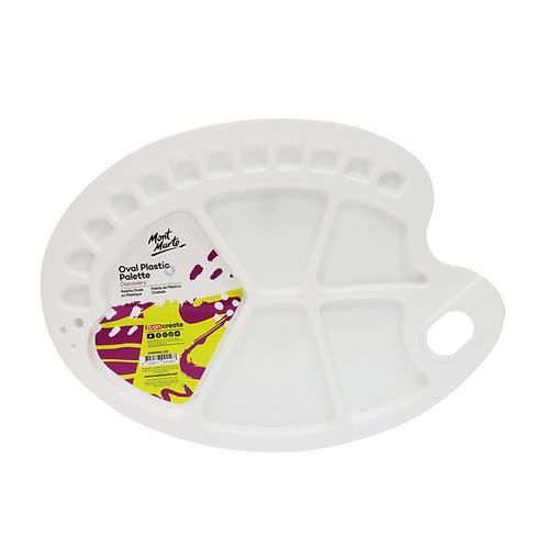Mont Marte Discovery Oval Plastic Palette 34 x 25cm (13.3 x 9.8in)