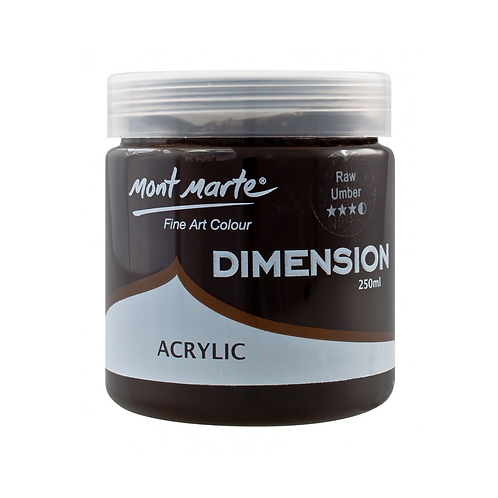 Mont Marte Dimension Acrylic 250ml - Raw Umber