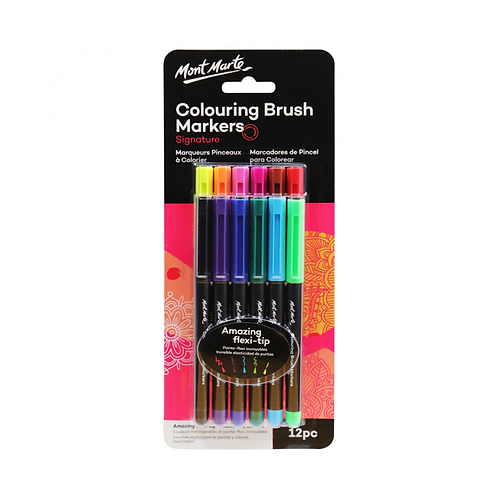 Mont Marte Signature Colouring Brush Markers 12pc