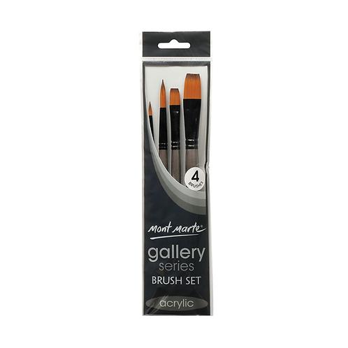 Mont Marte Gallery Series Brush Set Acrylic 4pce