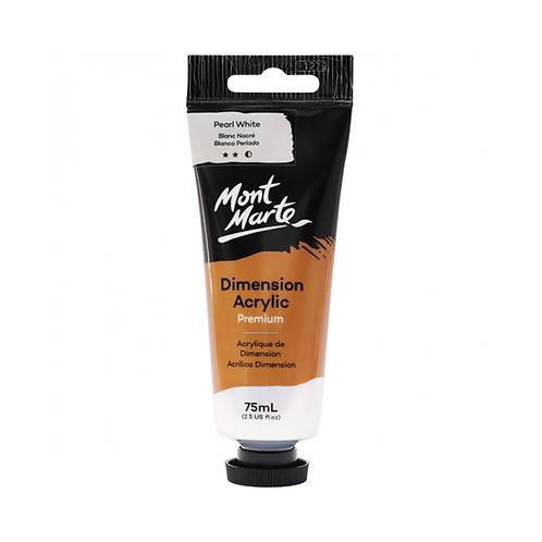 Mont Marte Premium Dimension Acrylic 75ml (2.5oz) - Pearl White