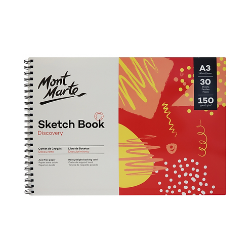 Mont Marte Discovery Sketch Book A3 (11.7 x 16.5in) 30 Sheets 150gsm