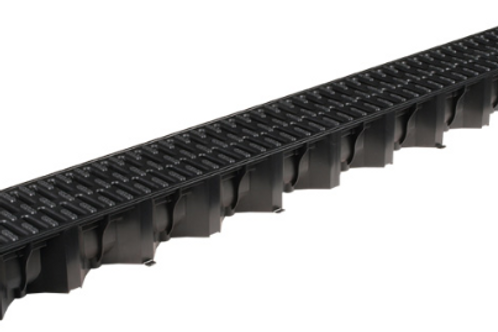 Aco Hexdrain with Black Plastic Grate - Class A15