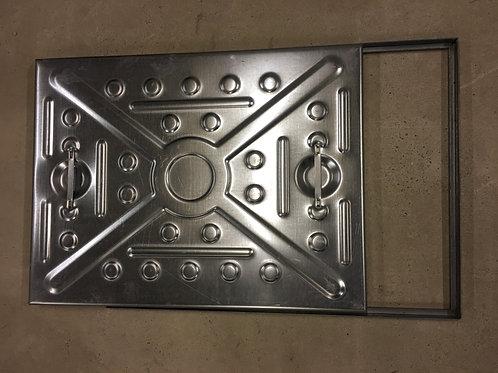 Manhole Cover - 600x450 2.5Tonne Solid top (Pedestrian)