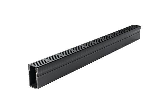 Aco Threshold Drainage with Black Aluminium Grate