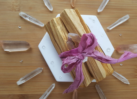 Palo Santo & Quartz Bundle