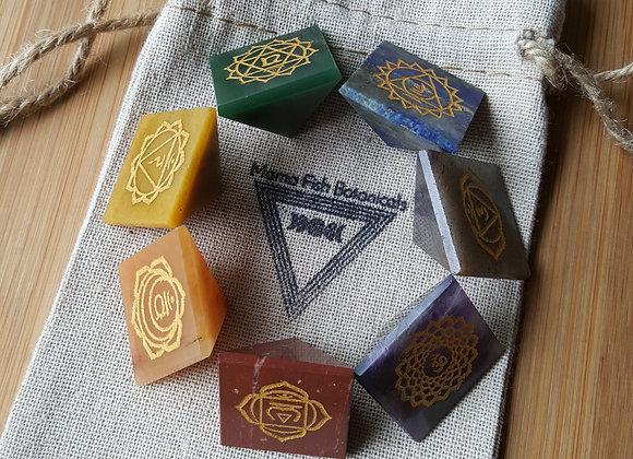 Chakra Stones- Engraved Sanskrit Chakra Symbols