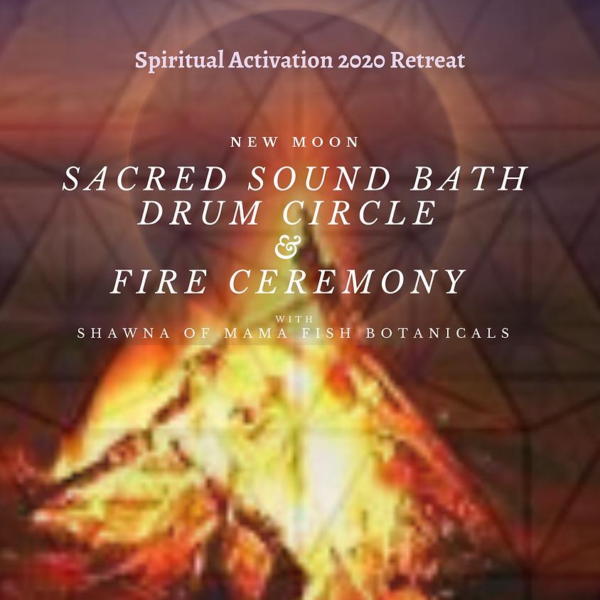 New Moon Sacred Sound Bath Drum Circle & Fire Ceremony