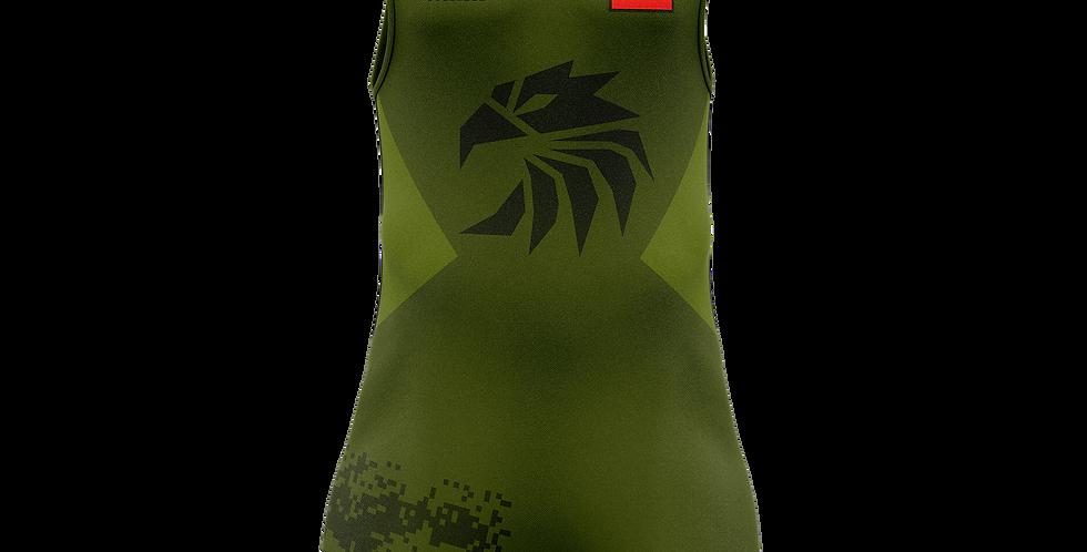 Dark green eagle singlet