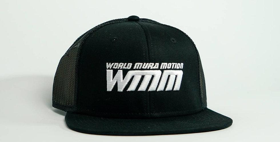 Black  cap / Черная кепка, белая вышивка WMM