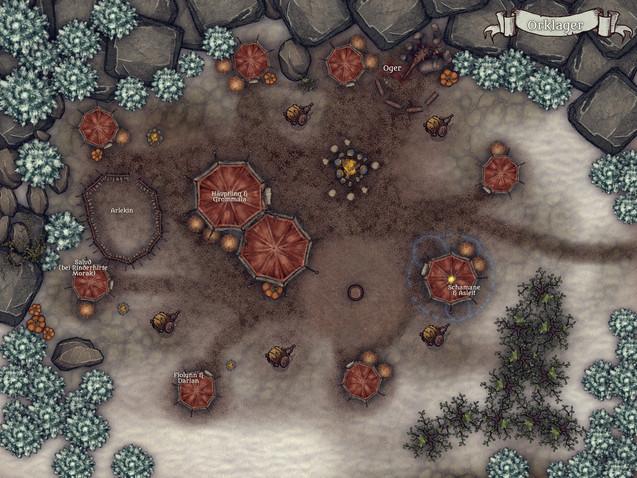 Karte Orklager