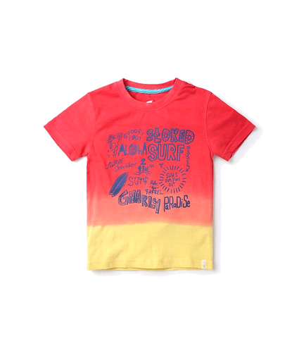 Boys Ombre Dyed Round-Neck T-shirt