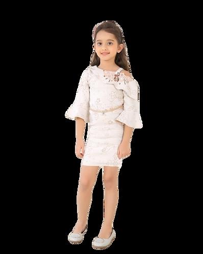 Girls Party White Midi Dress