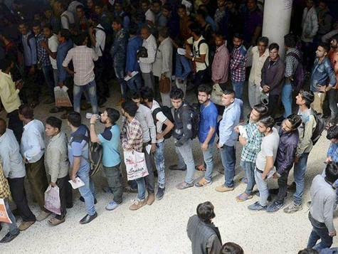 INDIA'S UNEMPLOYMENT RISES TO 32 MILLION IN 2019.