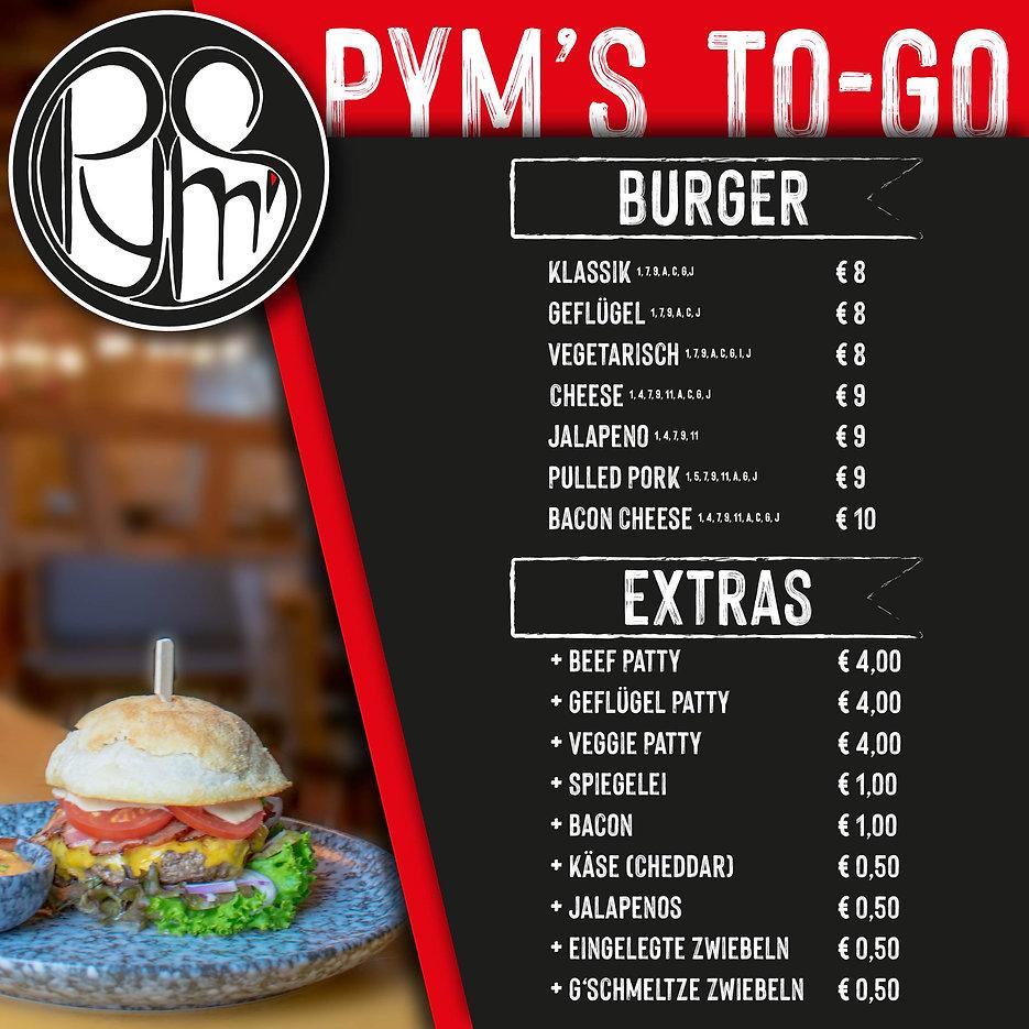 Burger Lieferkarte