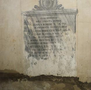scritte funebri  - parete nord