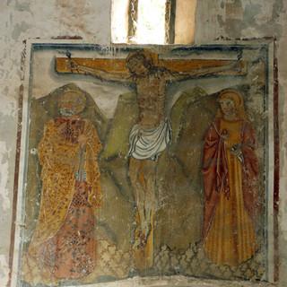 Crocefissione con San Pietro e San Giovanni evangelista - absidiola destra