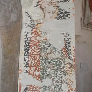 Santa non identificata ( Santa Lucia?) - pilastro tra abside e absidiola sinistra