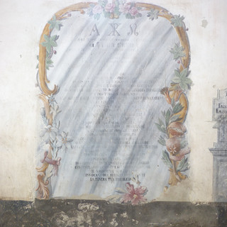 scritte funebri - parete ovest