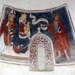 Madonna con Bambino, San Nicola e San Giovanni Battista - abside