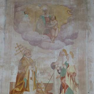 Madonna del Carmine con San Pietro Sant'Antonio Abate, Santa Teresa - parete nord