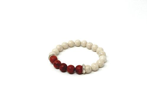Riverstone & Coral Bracelet