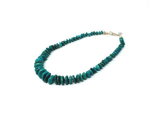 Turquoise Hand-Knotted Statement Necklace