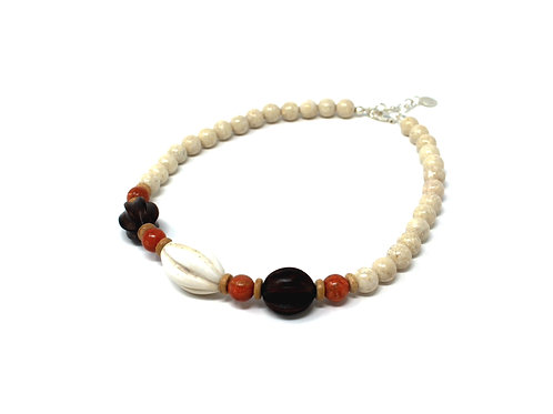 Riverstone Earthy Statement Necklace