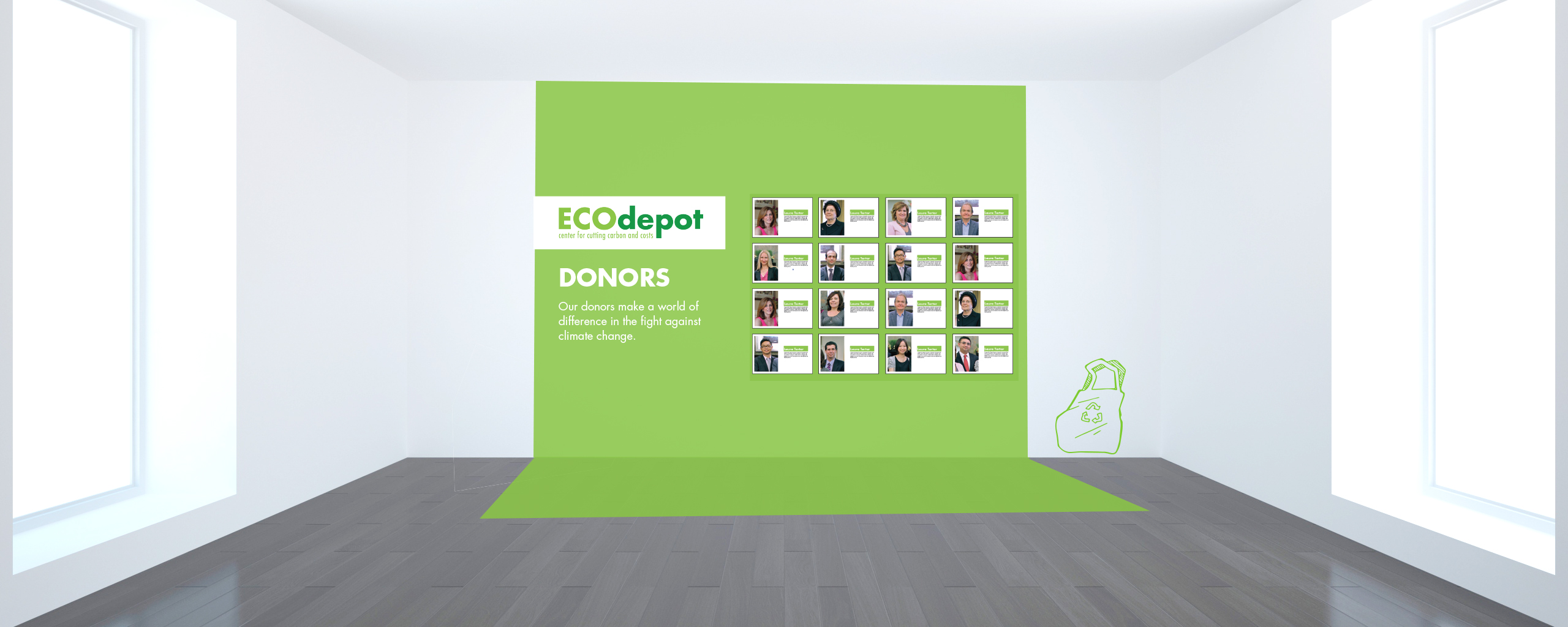 eco depot exhibit- donors