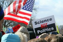 Science Not Politics, US Flag