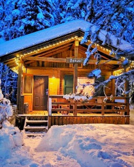 Wintery Beaver Chalet at Hillside Lodge