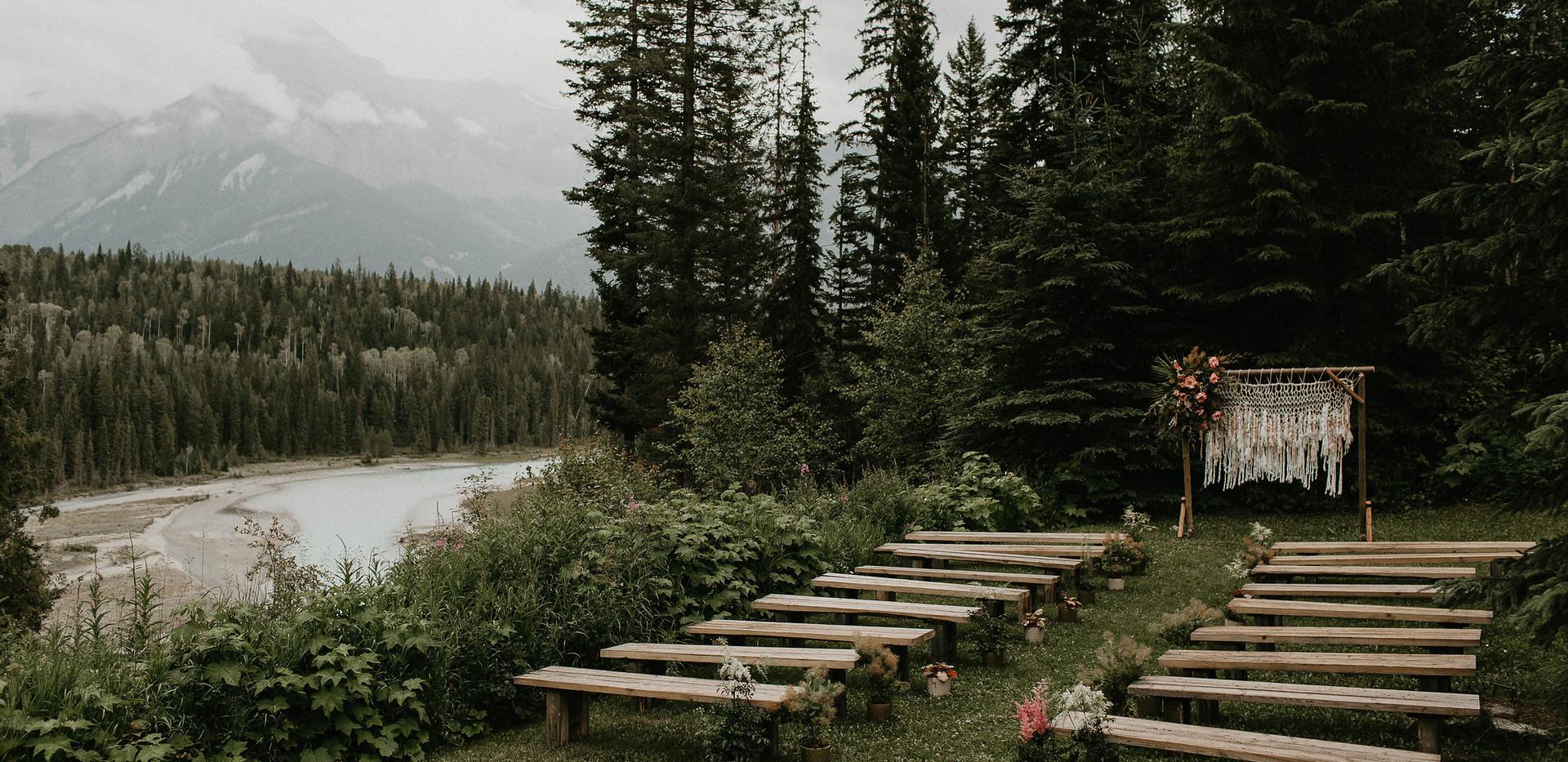 Ceremony Set Up at Hillside Lodge