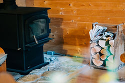 Wood Stove at Hillside Lodge